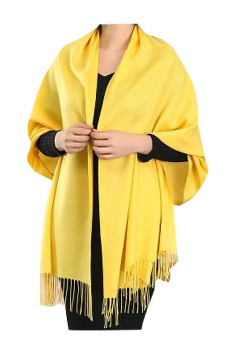 SKSL028 製造披肩圍巾  設計流蘇黃色圍巾 圍巾中心  披肩式圍巾