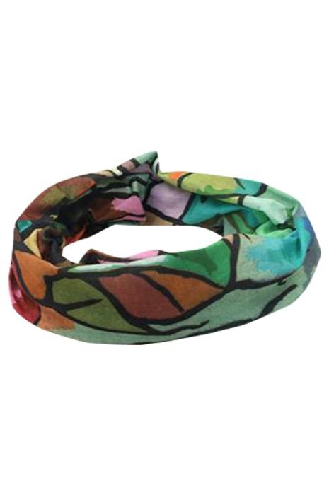SKSL035 大量訂製印花睡覺圍巾 自訂防曬面巾 頭巾手腕 單車護脖圍巾 睡覺圍巾供應商