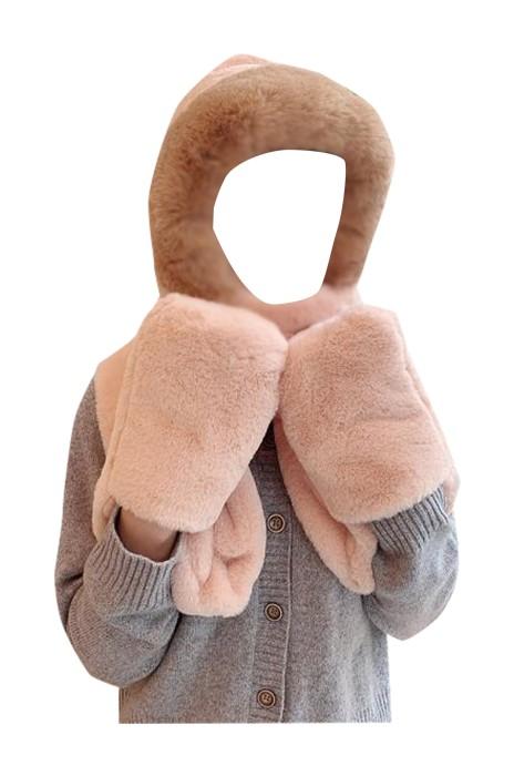 SKSL019  大量訂製毛絨圍脖圍巾 設計加厚保暖護耳圍巾帽子 圍巾帽子專門店