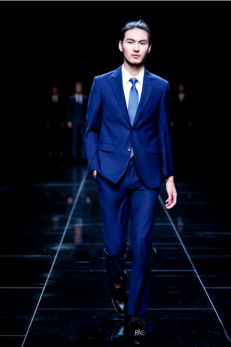MDBS005 真人示範正裝西裝  模特走秀藍色西裝 男西裝hk中心