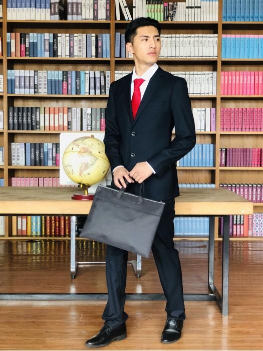 BD-MO-059 個人設計男西裝套裝  設計商務單排雙釦男西裝  真人試穿  男西裝製衣廠
