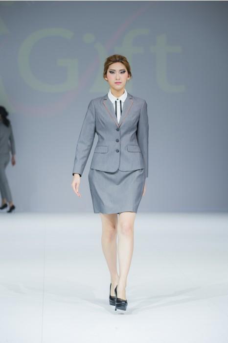 BWS073   製造量身西裝款式   模特展示 真人示範 設計女西裝款式  旅遊接待 導遊制服 旅行社制服  訂造西裝款式   西裝專門店