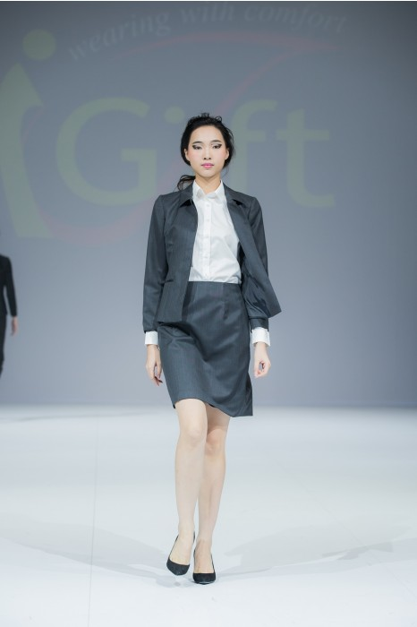 BWS074 訂購長江實業地產西裝  真人展示 活動西裝 設計修身女款西裝  網上下單女款西裝 西裝製造商
