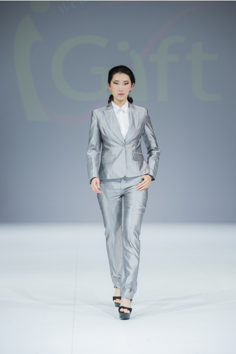 BWS085 訂購女西裝套裝  製造褲裝女西裝  真人展示  模特示範  度身訂造女西裝 女西裝專門店