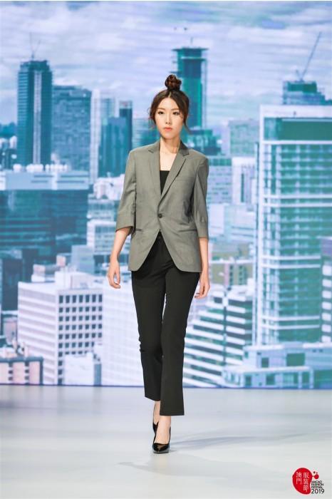 MDBWS006  設計七分袖西裝 真人示範 訂購女西裝 西裝hk中心