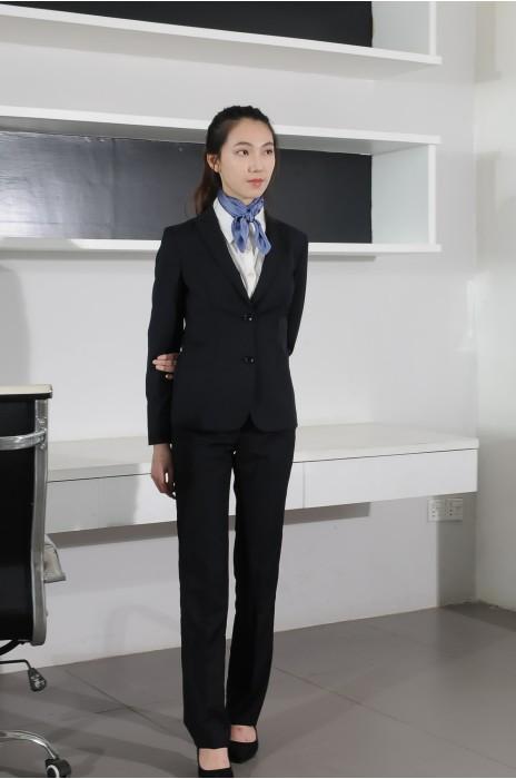 BD-MO-072 網上訂購職業女西裝 模特示範 職業女性套裝 西裝專門店