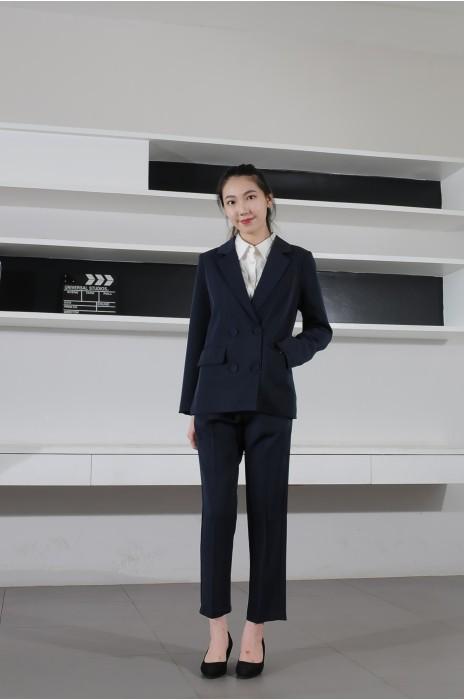 BD-MO-074 訂製職場女西裝 模特示範 度身訂造職場西裝 西裝製造商
