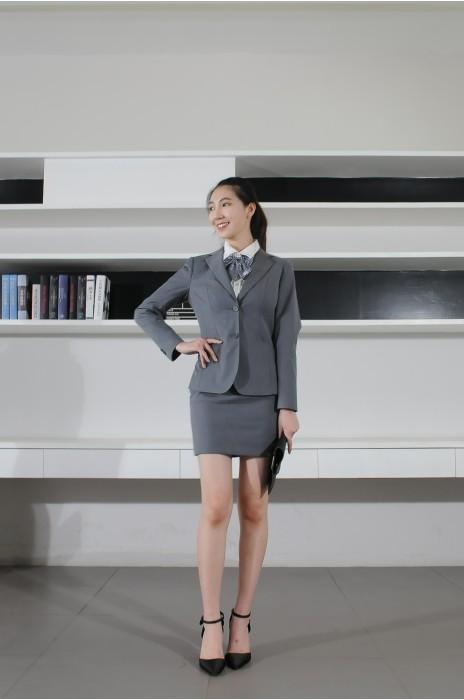 BD-MO-078 網上訂購女西裝 模特示範 辦公職業西裝 西裝製造商