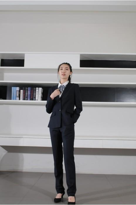 BD-MO-079 網上訂購職業西裝 模特展示 設計修身女西裝 西裝供應商