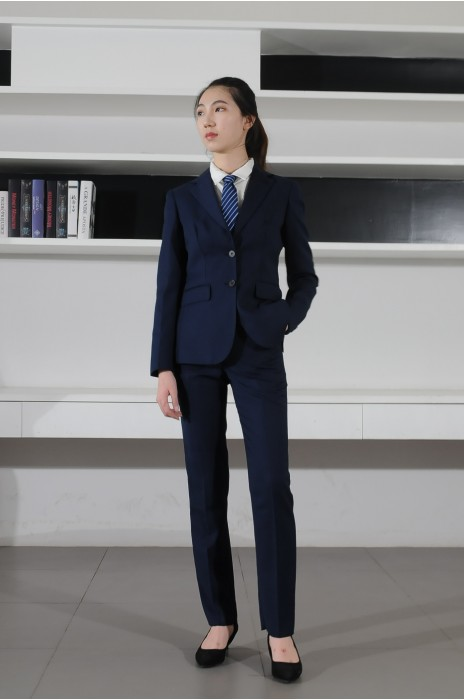 BD-MO-082 網上訂購女西裝 模特展示 訂造修身通勤女西裝 女西裝製造商