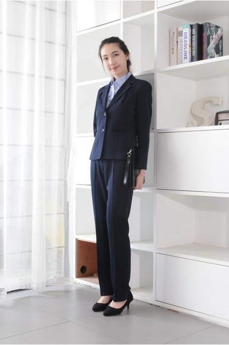 BD-MO-084 來版訂購通勤女西裝 模特展示 度身訂造職場女西裝 西裝專營店