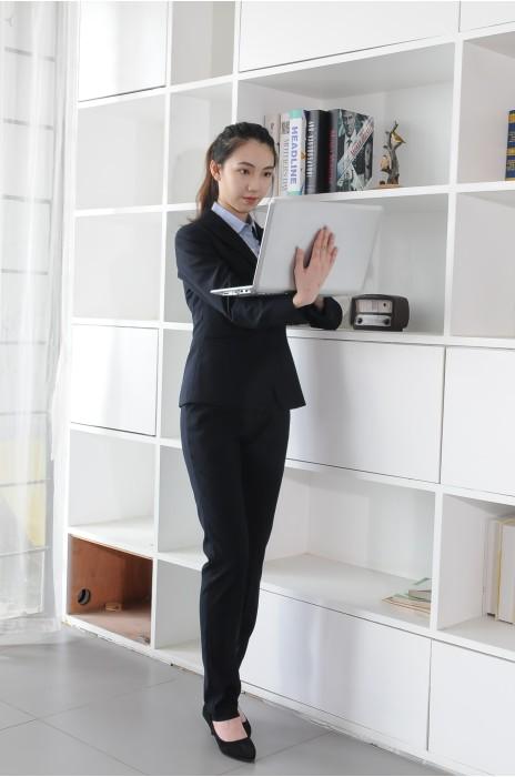 BD-MO-086 網上訂購職業西裝 模特展示 訂造修身貼合女西裝 女西裝製造商