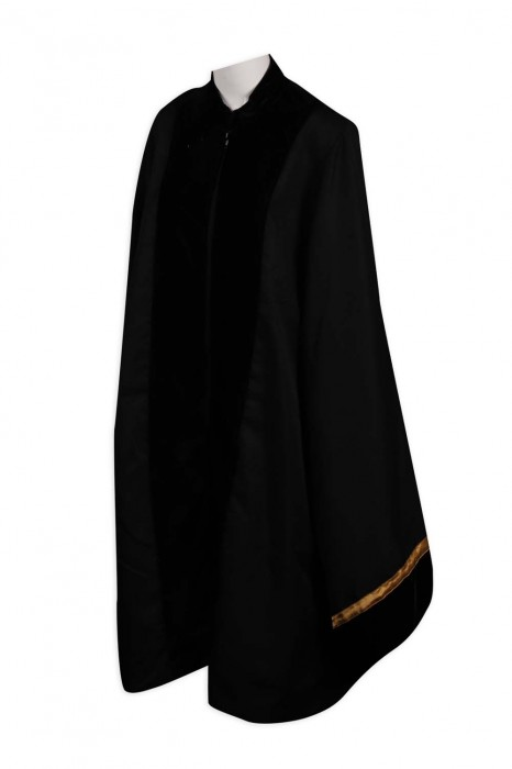 DA114 製作立領拉鏈畢業袍 半胸 絨布 畢業袍供應商