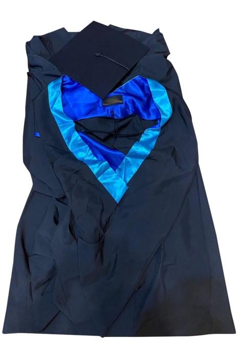 訂做學士學位畢業袍     設計撞色畢業袍披巾  浸會大學學士學位畢業袍  DA127