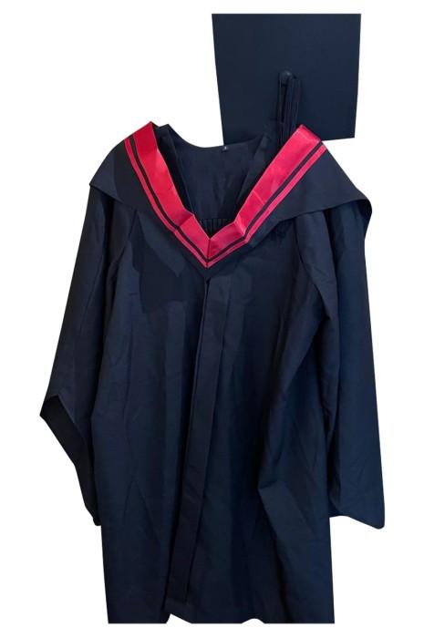 團體訂做畢業袍  網上下單畢業袍  設計畢業典禮服  撞色披巾  公開大學  都市大學  都會大學 DA129
