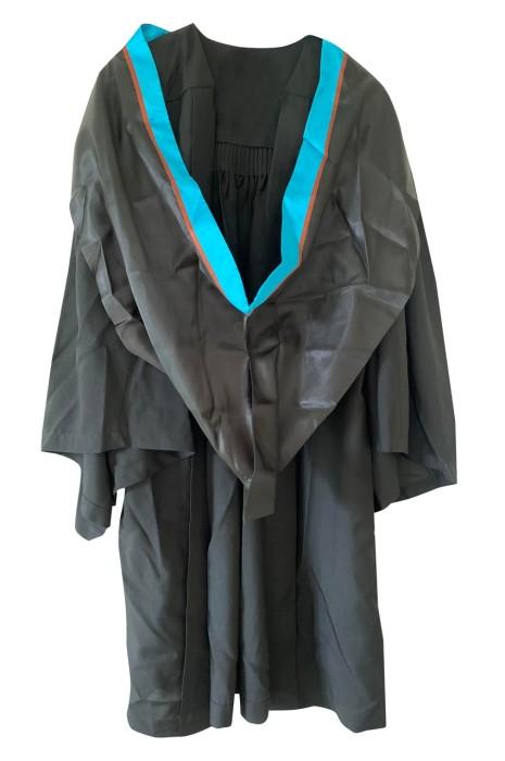專業度身訂製個人畢業袍    訂購獨特藍色邊披巾    畢業帽    設計畢業袍供應商  理工大學 DA133