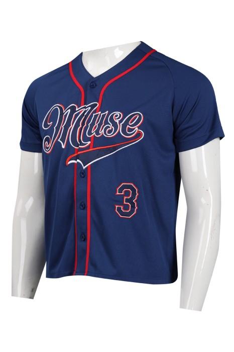 BU35 製作個性logo短袖棒球衫  棒球衫製造商