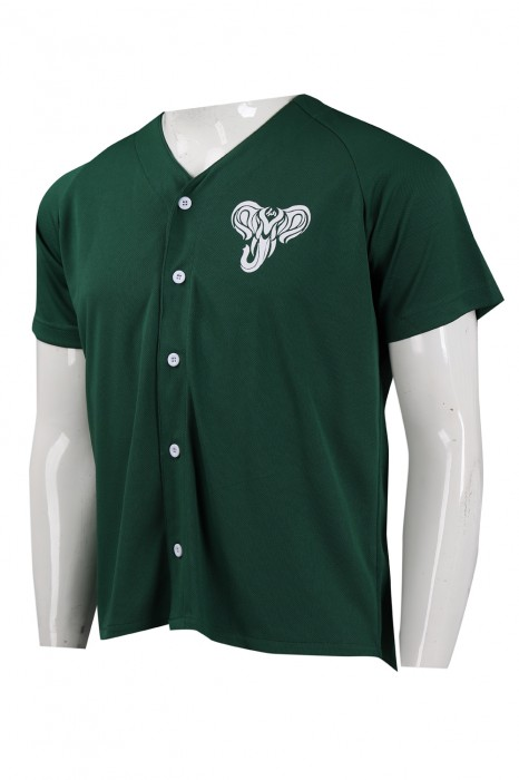 BU36 設計淨色個性印花棒球衫 棒球衫製造商