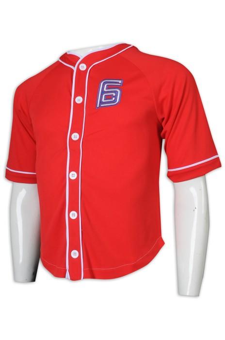 BU38 訂做繡花logo棒球衫 棒球衫生產商