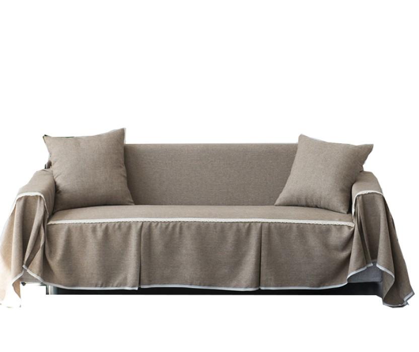 CAS001 訂做純色布藝沙發套   製作滌綸沙發套款式   家居布藝  沙發罩 沙發巾  自訂沙發套款式  沙發套廠房 卡其色