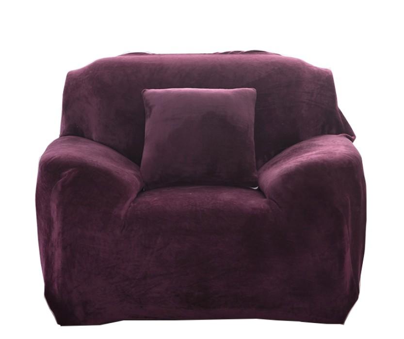 CAS002 製作沙發套款式   自訂毛絨沙發套款式  家居布藝 沙發巾 沙發罩 設計沙發套款式   沙發套製造商 紫色