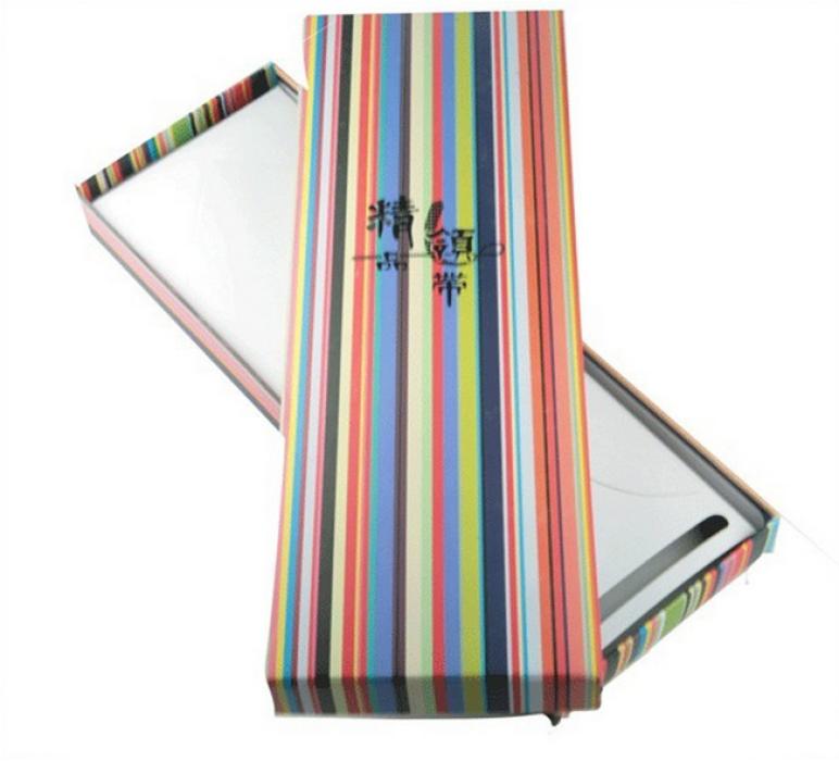 TIE BOX022 設計間條領帶盒 訂購時尚彩色領帶盒 網上下單領帶盒 領帶盒供應商