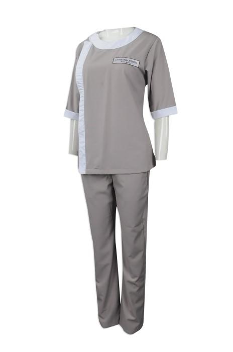 CL027 度身訂做套裝清潔服 大量訂購清潔服款式 新加坡 AJCapital 印製酒店清潔服批發商