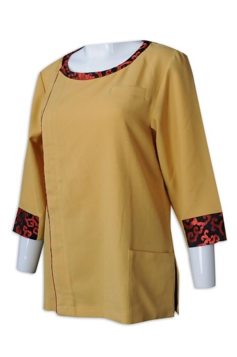 CL029 訂購女裝清潔服 網上下單酒店清潔服 清潔服制服公司