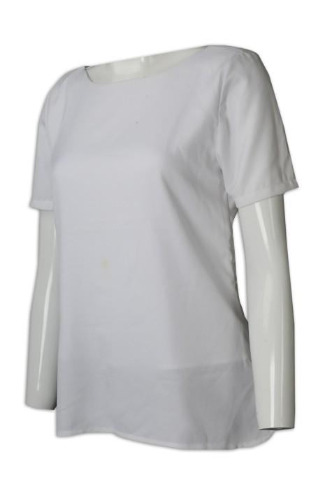 CL030 訂購白色短袖清潔服 大量訂購圓領清潔服 清潔服供應商