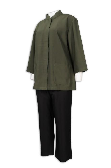 CL031 訂製女清潔服制服 清潔 保健制服 清潔服生產商