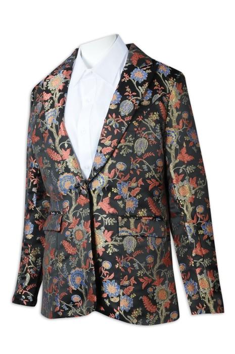 BS372 來樣訂製西裝外套 設計全件繡花西裝 男西裝供應商