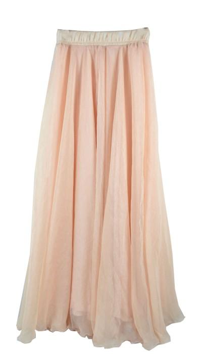 SKCS018 訂製雙層半身裙款式  飄逸長裙  半身裙專門店