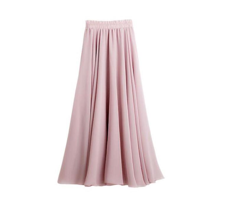 SKCS019 製作雪紡半身裙  飄逸長裙  半身裙生產商