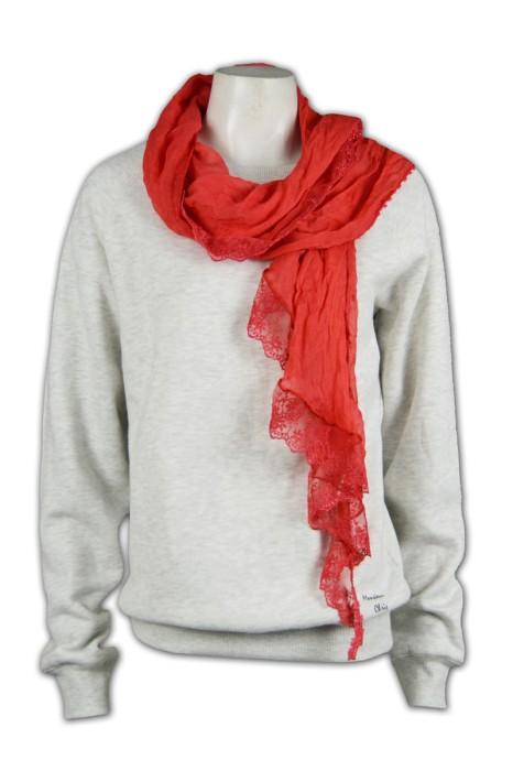 Scarf033 訂製雪紡圍巾  訂購團體花邊圍巾  訂製圍巾款式  自訂圍巾供應商