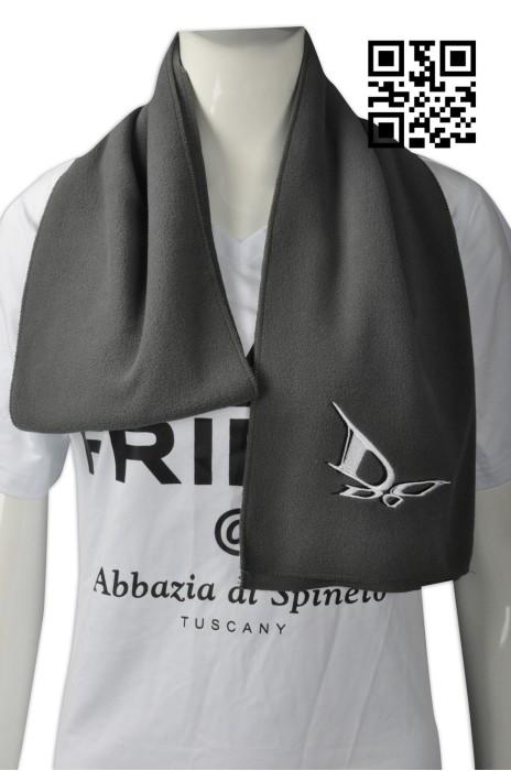 Scarf049  供應淨色圍巾  設計繡花logo圍巾 搖粒絨巾 來樣訂造圍巾 圍巾專門店