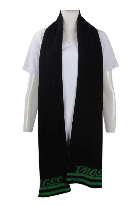 Scarf052 印製針織圍巾款式 設計繡花圍巾 屯門官立中學冷織圍巾 網上下單針織圍巾供應商