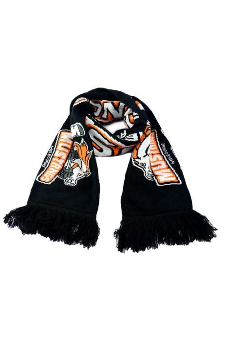 Scarf055 供應足球球迷圍巾 針織圍巾 腈綸提花成人圍巾 加工訂製logo