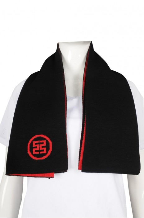 Scarf060 製作針織圍巾 撞色45%棉 55%滌 銀行推廣活動 贈送禮品 圍巾製造商