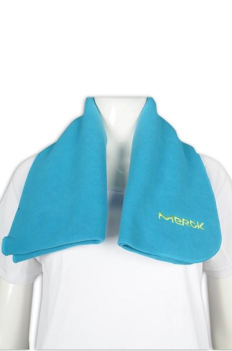 Scarf62 製作淨色搖粒絨圍巾 繡花logo 藥業 推廣禮品 圍巾專門店