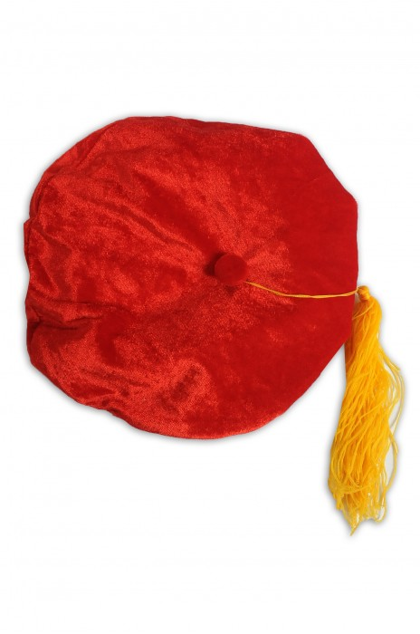 GGC013 訂做博士畢業多角帽 紅色絲絨帽 畢業帽供應商