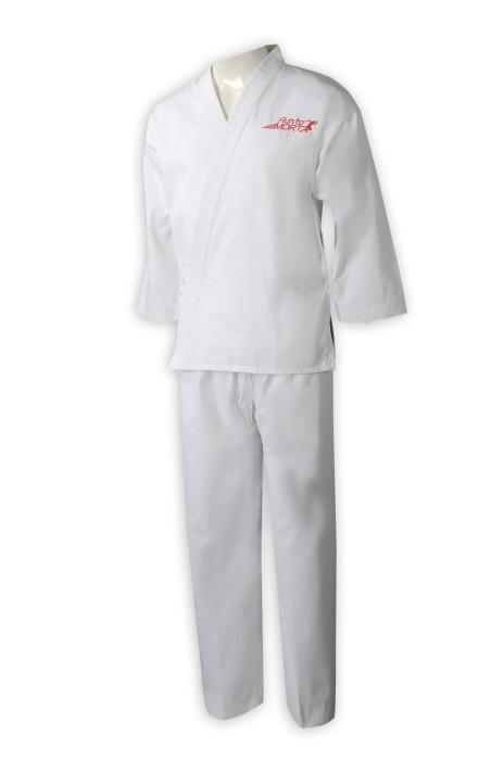 Martial015 供應長袖套裝跆拳道衫  專業訂做團體比賽 訓練營 空手道 保險行業  繡花Logo跆拳道套裝 跆拳道衫供應商 hk