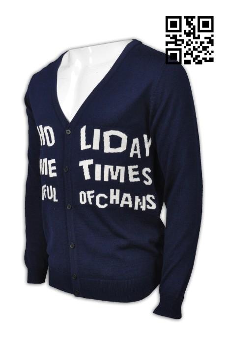 JUM033 自製舒適毛衫款式   訂做LOGO毛衫款式  自訂織字   設計毛衫款式   毛衫廠房