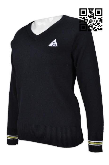 JUM036 製造V領毛衫 訂購淨色毛衫  度身訂造毛衫 毛衫專門店