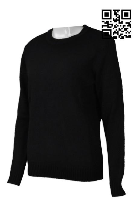 JUM037 訂製淨色毛衫  設計圓領保暖毛衫 100%腈綸單面 來樣訂造毛衫 毛衫製造商