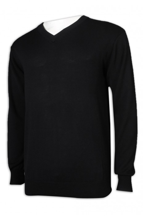JUM051訂做長袖緊身V領毛衣 100%羊毛 毛衫供應商