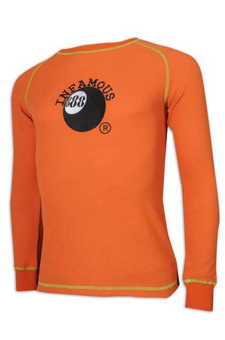 JUM052 訂做男裝圓領毛衣 修身 75%棉 25%滌 5%氨綸 桌球 毛衫供應商