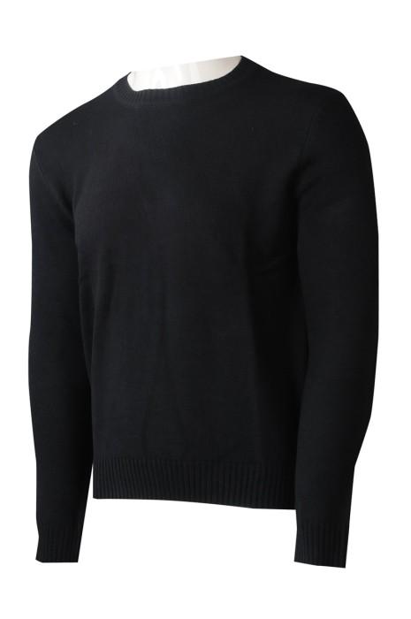 JUM056 大量訂製圓領毛衫  設計長袖黑色毛衫 100%睛綸  毛衫供應商  香港 青少年 制服團體