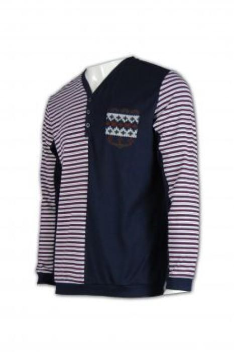 JUM011  橫紋冷衫 橫條紋毛衣外套 自訂毛衫款 套頭衫