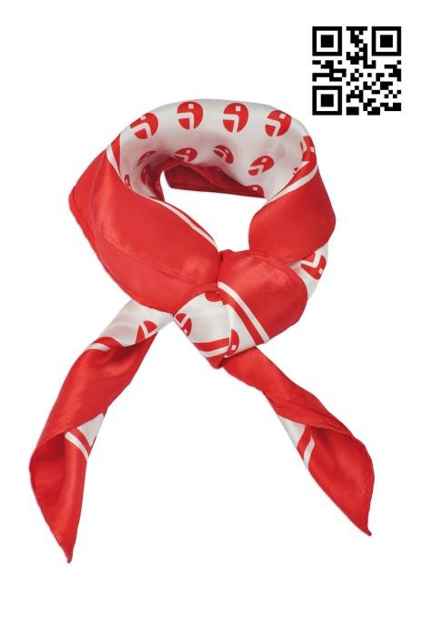 SF-019訂印LOGO絲巾款式    自訂真絲絲巾款式    製作度身絲巾款式  絲巾制服公司