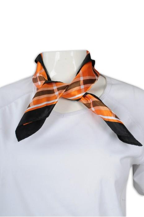 SF034 訂製職業絲巾 仿絲絲巾 新華旅行社 絲巾生產商